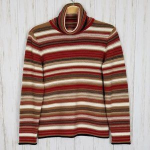 Talbots Striped Turtleneck Sweater NWT